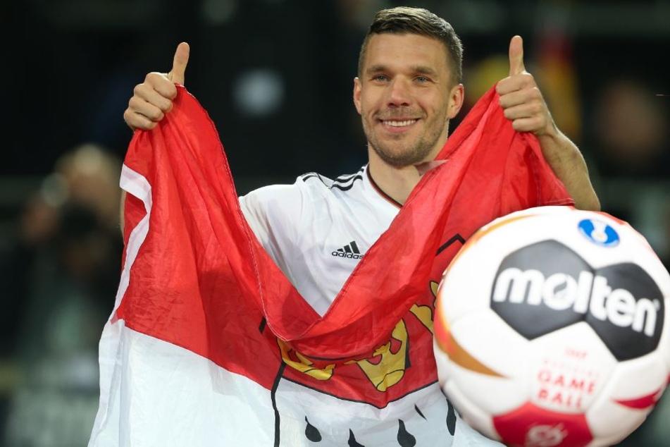 Lukas Podolski (33) ist Botschafter der Handball-WM 2019 in Köln.
