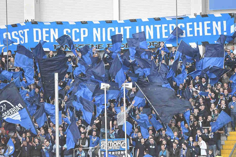 Die Fans des SCP fordern ein klares Bekenntnis der Stadt zum Verein.