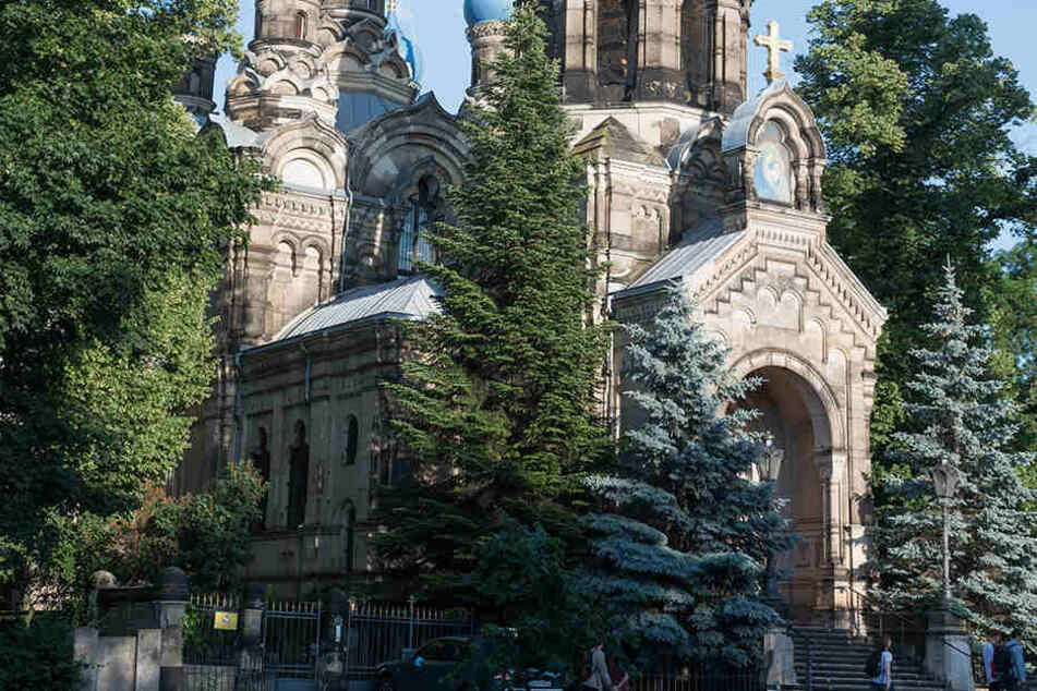 Auch am Fritz-Löffler-Platz neben der Russisch-Orthodoxen Kirche gab es Attacken.
