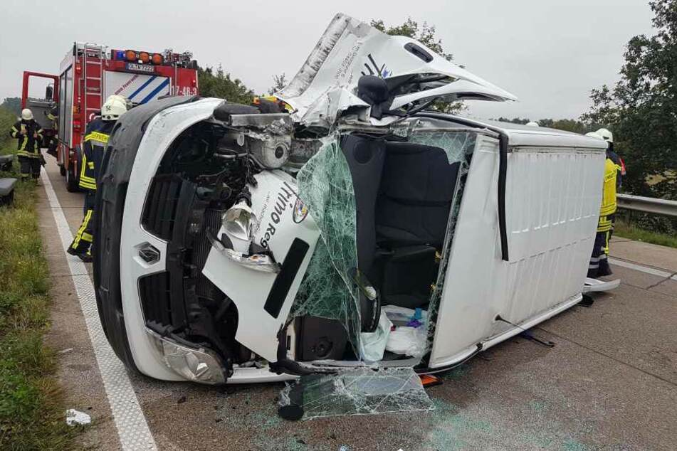 Der Unfall-Bus war mit insgesamt sieben Schulkindern besetzt.