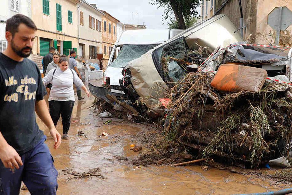 Die Stadt Sant Llorenc des Cardassar hatte es besonders schlimm getroffen.