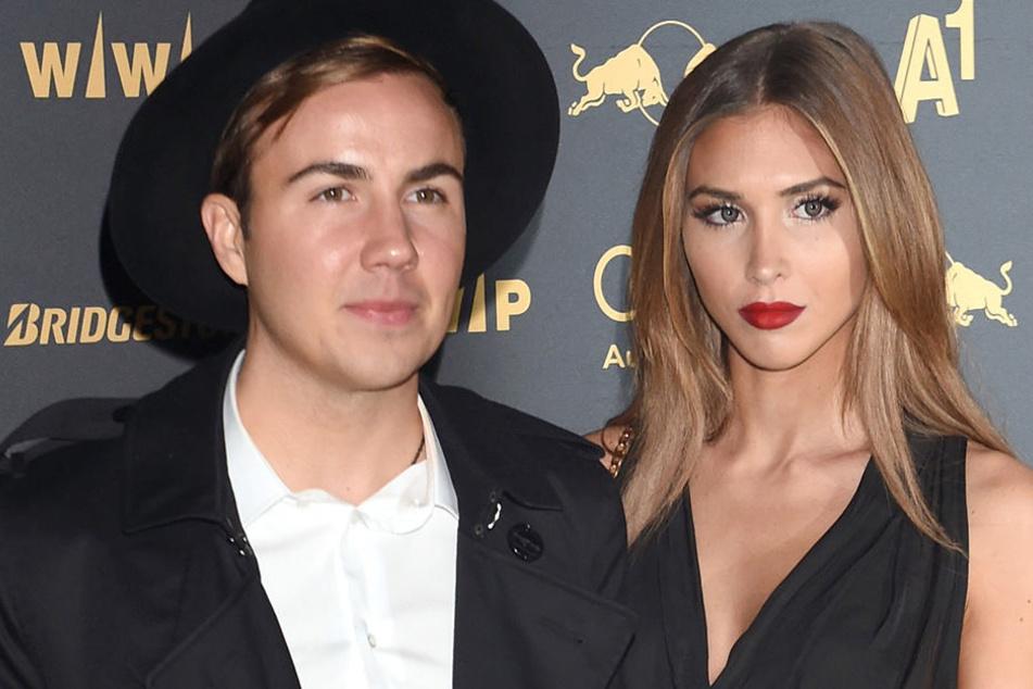 Der deutsche Fußballer Mario Götze und seine Freundin, das Model Ann-Kathrin Brömmel.