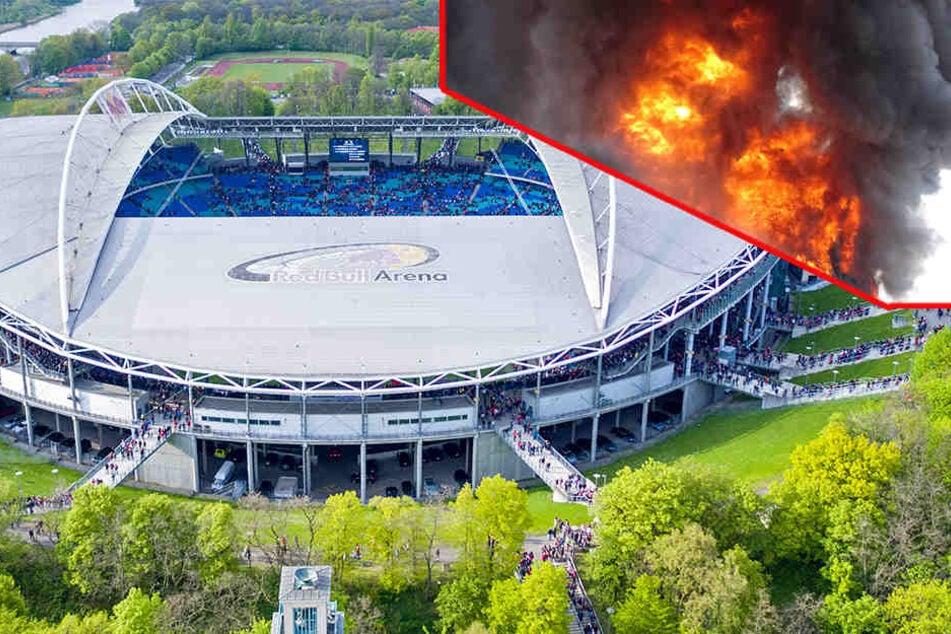 Feuerwehr rückt zu Brand in der Red Bull Arena aus