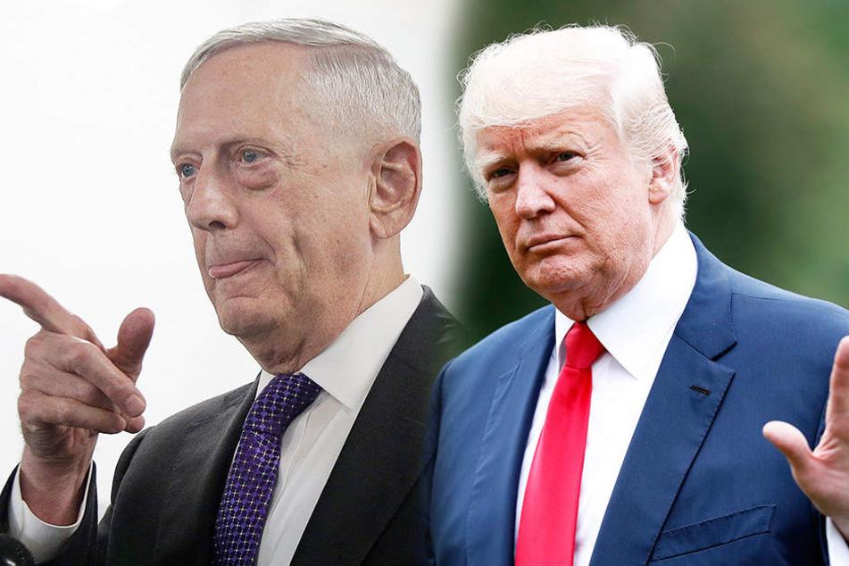 US-Verteidigungsminister James Mattis (li.) warnt Korea vor einem Angriff. Denn dann ziehen Donald Trump und Co. in den Krieg.