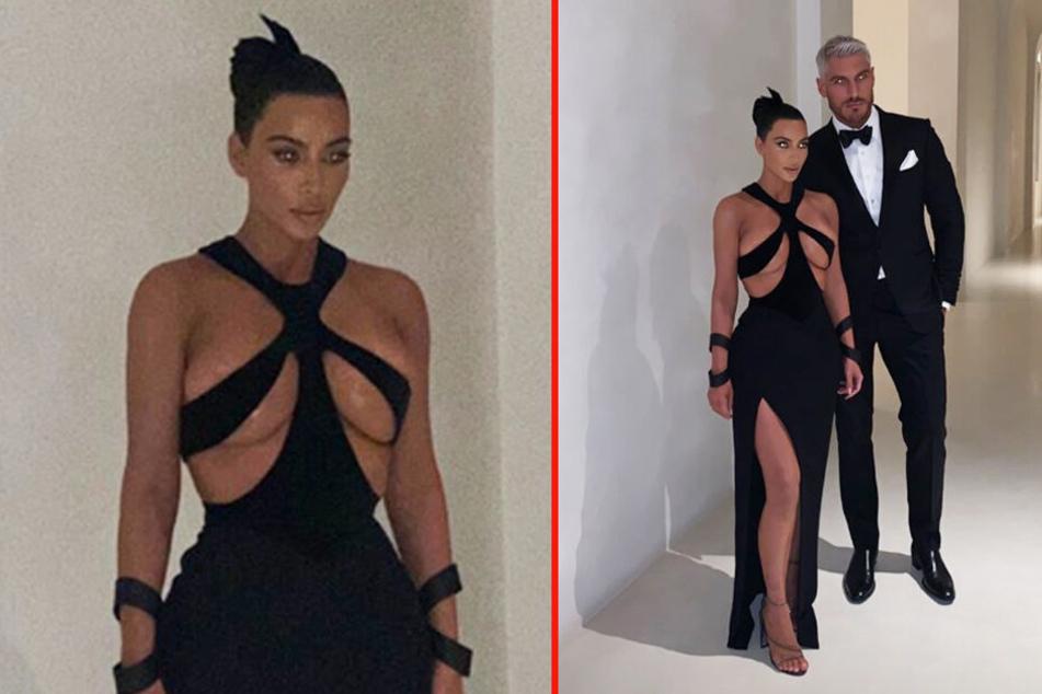 Kim Kardashian lässt mal wieder tief blicken.