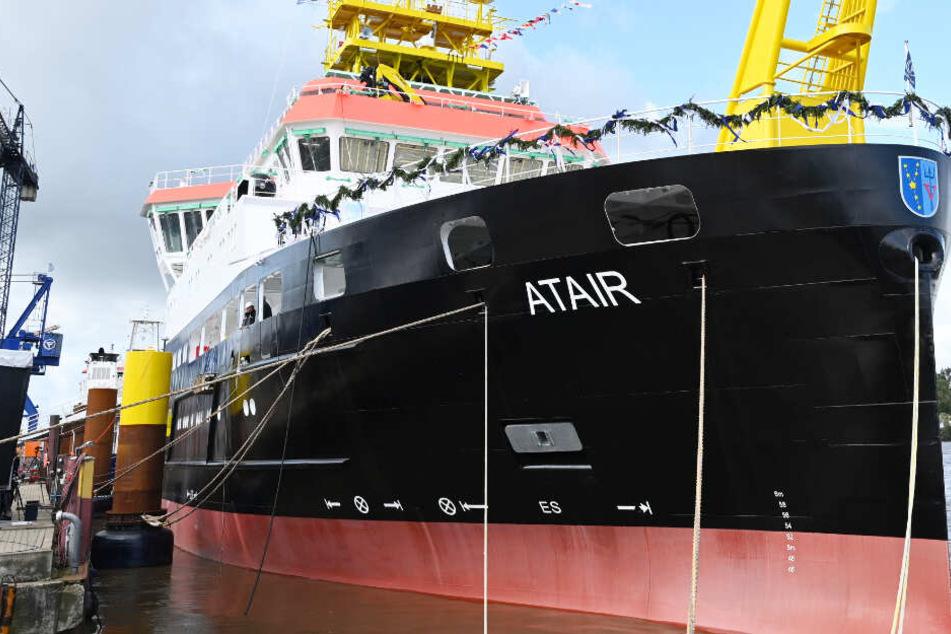 """Neues Forschungsschiff """"Atair"""" setzt auf klimafreundlichen Antrieb"""
