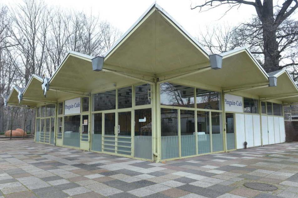 Das alte Pinguin-Café aus dem Dresdner Zoo ist inzwischen eingelagert.