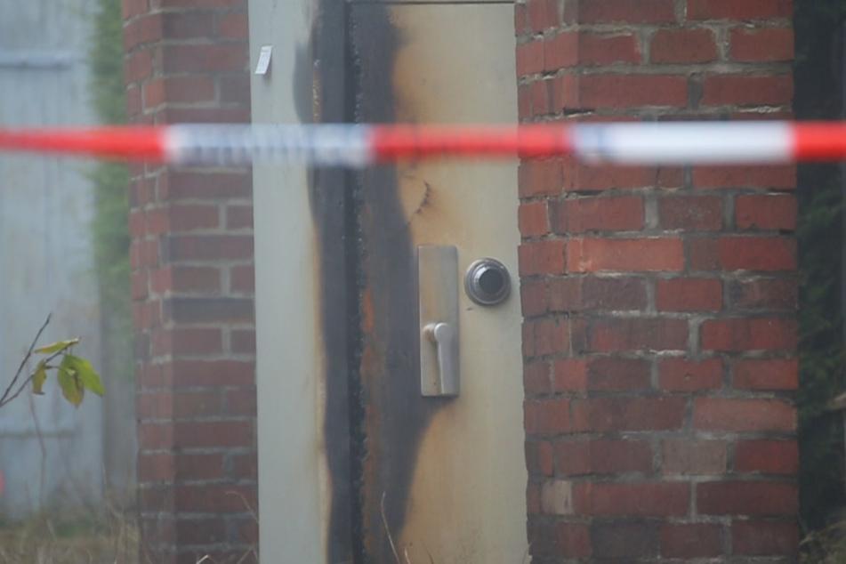 Der Tresor wurde durch den Brand stark beschädigt.