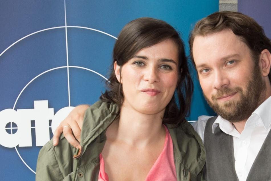 Nora Tschirner und Christian Ulmen stehen gemeinsam für den Tatort vor der Kamera.