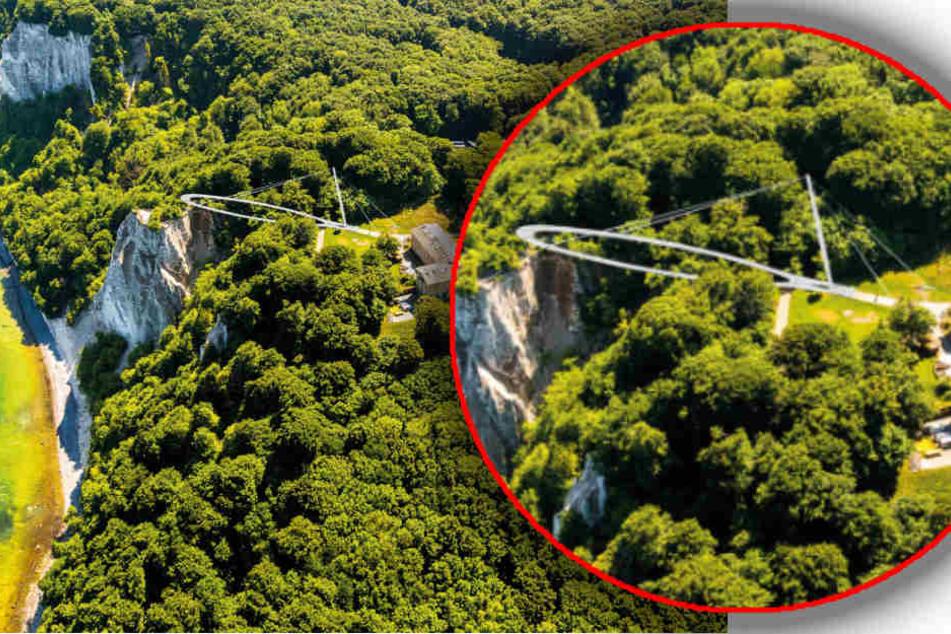 Die Plattform soll die sicherere Variante am Königsstuhl sein und Touristen einen unvergleichlichen Ausblick über die Kreidefelsen und die Ostsee ermöglichen.