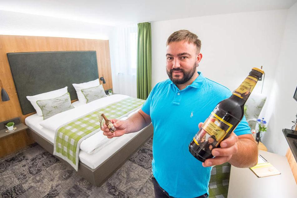 Brauerei-Chef Dominik Naumann (38) freut's: Für seinen Bier-Tempel gab's jetzt vier Sterne.