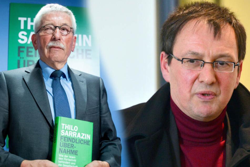 Oskar Helmerich (re.) hatte Thilo Sarrazin zu einer Lesung eingeladen.