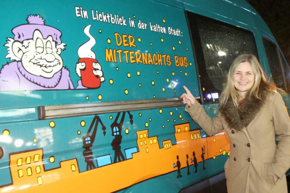 Sonja Norgall leitet das Projekt Mitternachtsbus der Diakonie Hamburg (Archivbild).