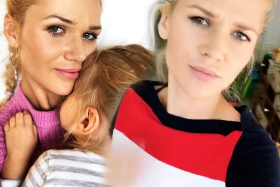 """Zweifach-Mama Sara Kulka (28) zeigt sich erschüttert von dem Film """"Elternzeit"""", der am Donnerstag in die deutschen Kinos kommt."""
