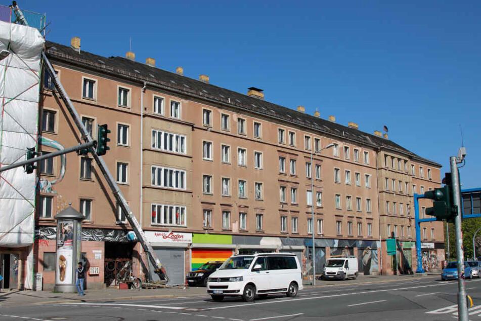 In diesem Haus an der Leipziger Straße befindet sich das Lesecafé Odradek.