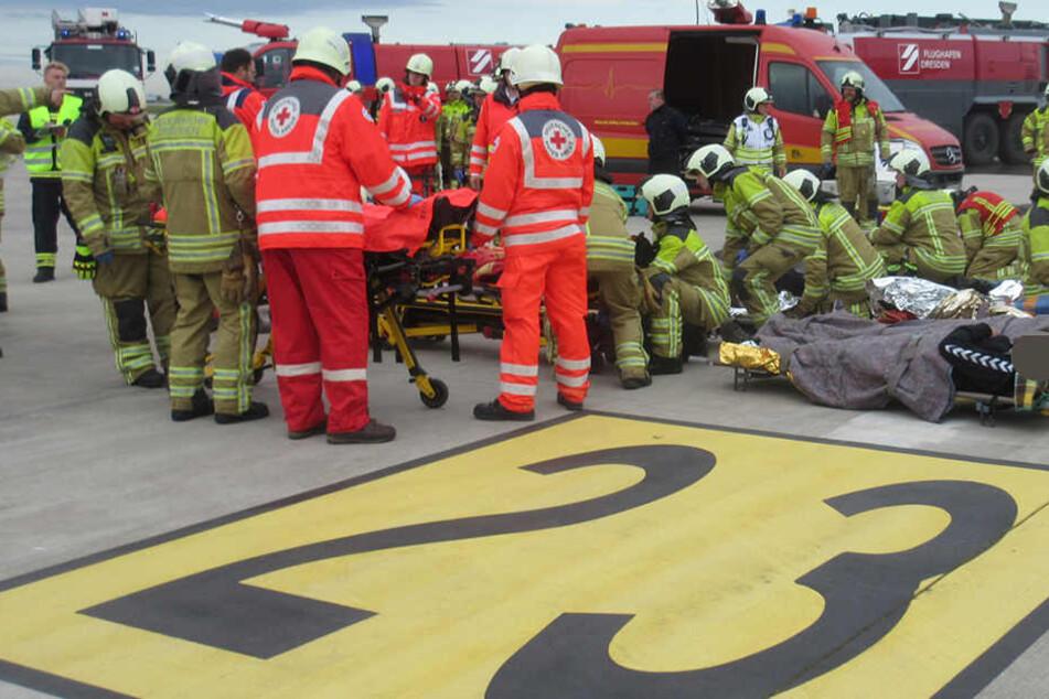 Der Abtransport von Verletzten stand im Mittelpunkt der Übung.