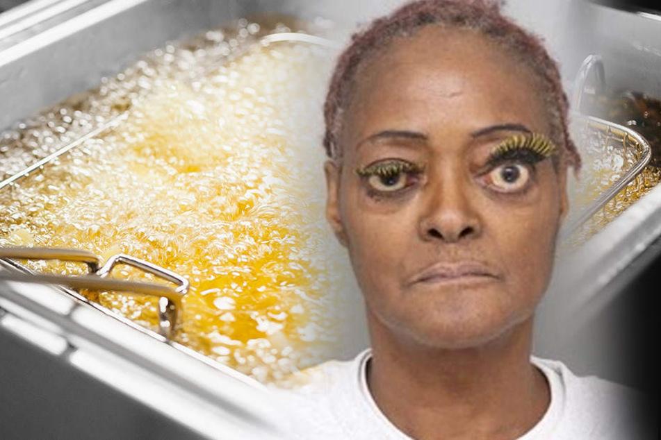 Verrücktes Fahndungsfoto: 61-Jährige bewirft Opfer mit heißem Fett