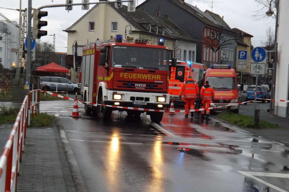 Der Unfallort wurde zunächst abgesperrt.