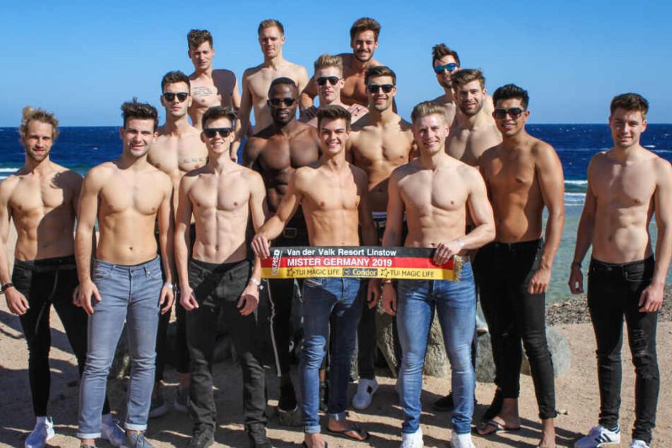 """Sie haben es unter die letzten 16 geschafft: Die Finalisten der """"Mister Germany""""-Wahl."""