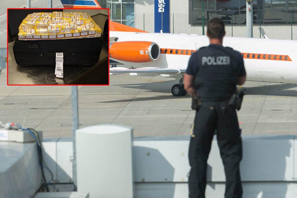 Im Koffer eines weiblichen Passagiers entdeckten die Zollbeamten am Dresdner Flughafen 75.000 Zigaretten.