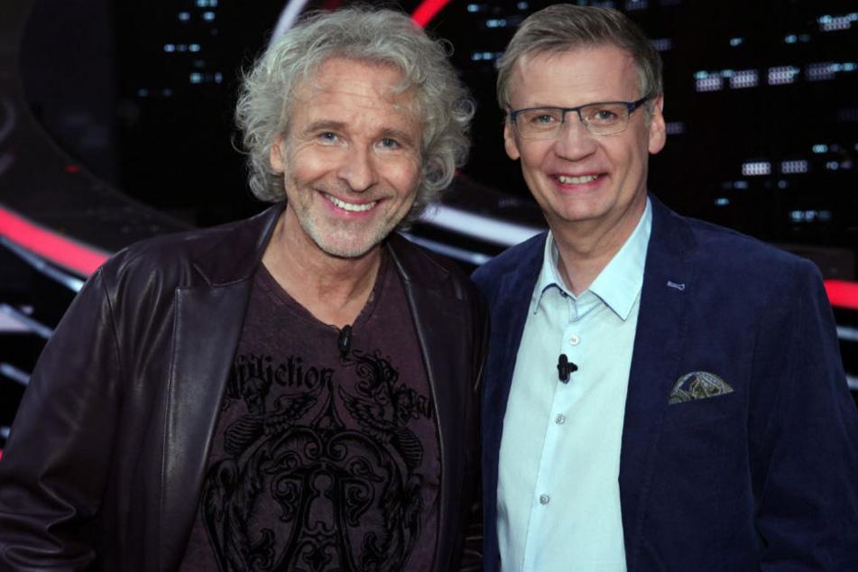 """Auch am Freitagabend traten Thomas Gottschalk (66) und Günther Jauch (60) wieder in ihrer RTL-Show """"Die 2 - Gottschalk und Jauch gegen alle"""" an."""
