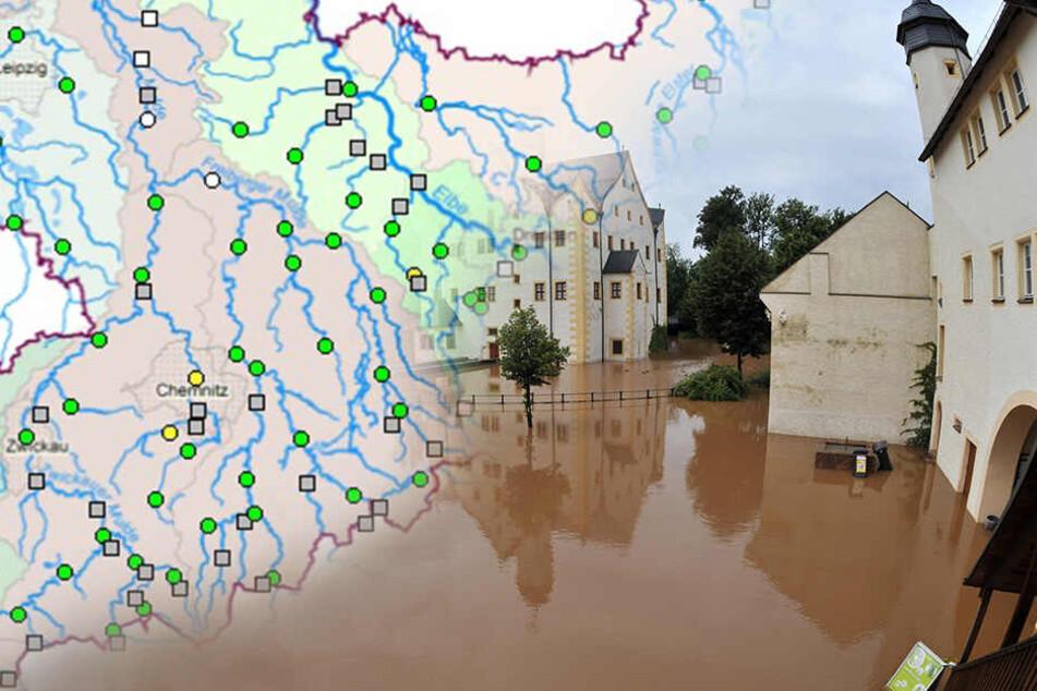 Chemnitz: Alarmstufe ausgerufen! Hochwasserwarnung in diesen Gebieten Sachsens