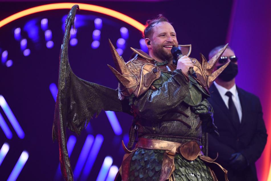 """Gregor Meyle hat im Drachen-Kostüm fast nichts gesehen: """"Ich bin froh..."""""""