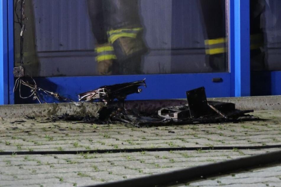 An diesem PC, von dem zugegeben nicht mehr viel übrig ist, brach der Brand aus.