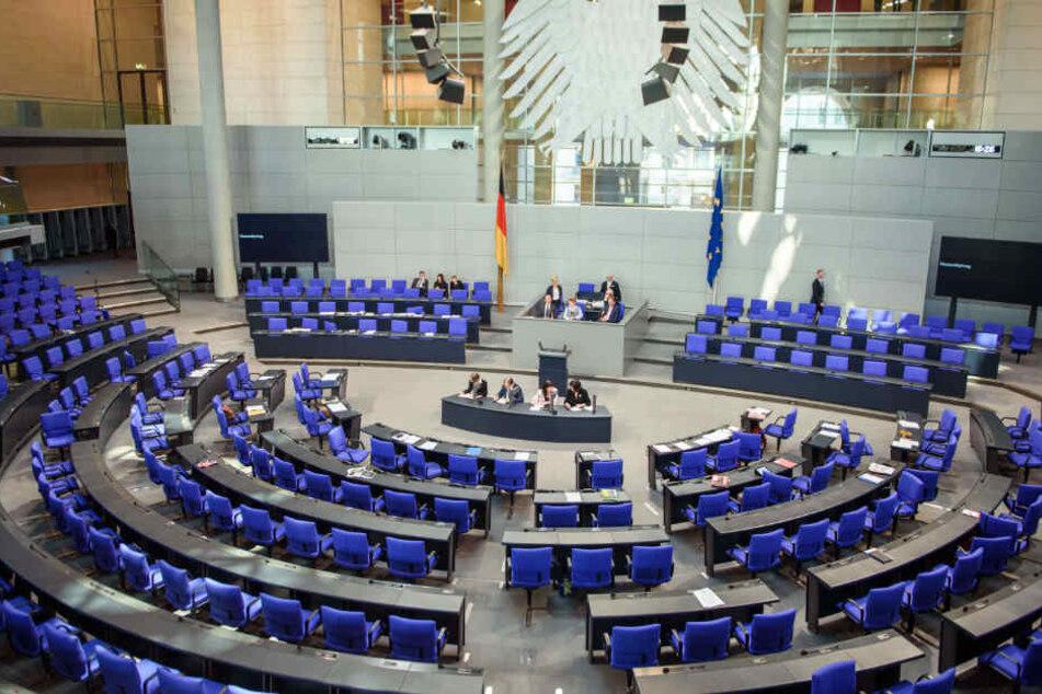Der Plenarsaal war am Freitagnachmittag recht übersichtlich.