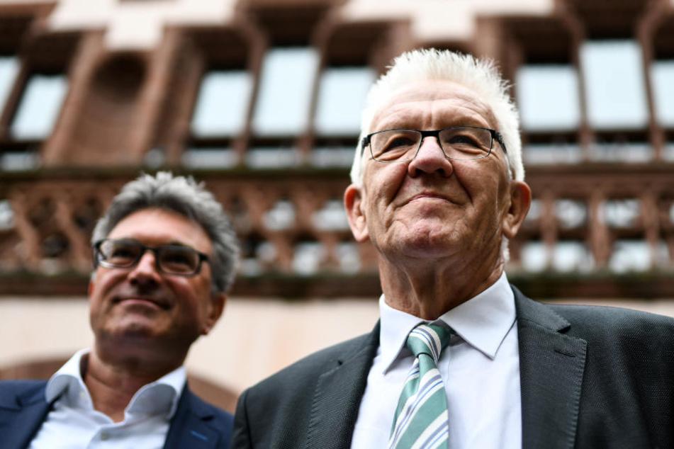 Kretschmann mit dem abgewählten OB von Freiburg, Dieter Salomon.