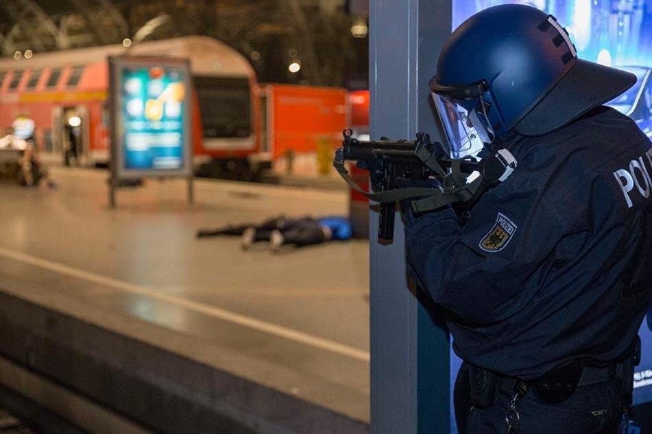Die Bundespolizei zieht nach der Anti-Terrorübung ein positives Fazit.