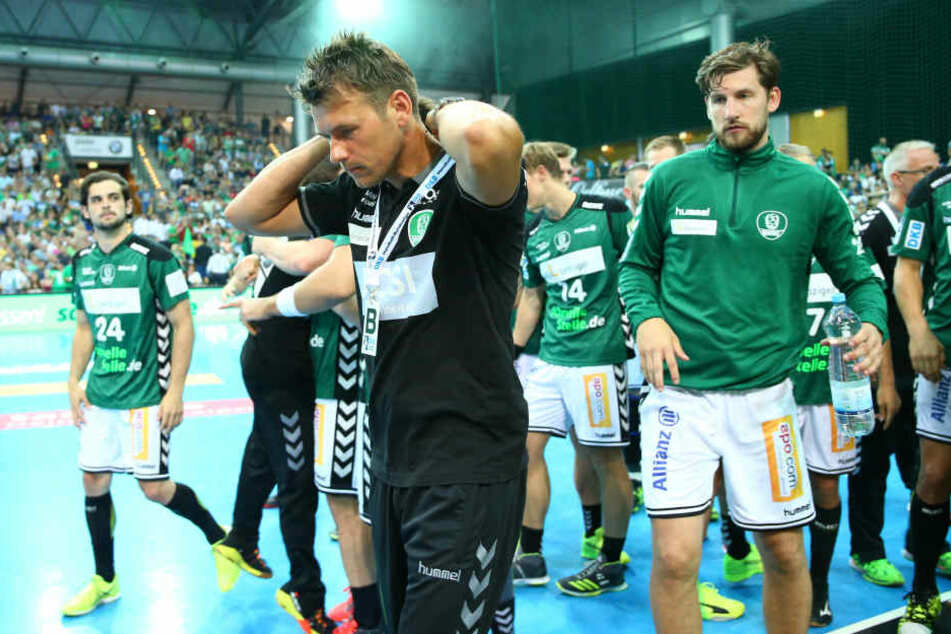Der scheidende DHfK-Trainer Christian Prokop konnte sich nicht mit einem Sieg aus Leipzig verabschieden.
