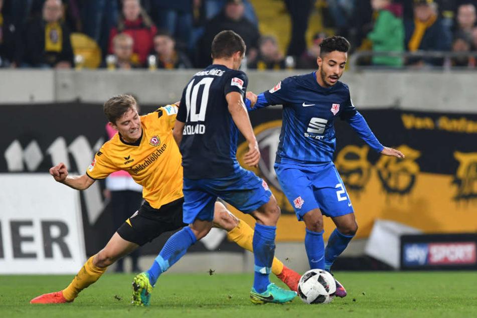 Niklas Hauptmann (l.) zeigte eine richtig starke Leistung.