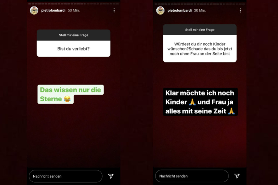 Pietro Lombardi (28) heizt mit seiner letzten Instagram-Story die Liebes-Gerüchte weiter an.