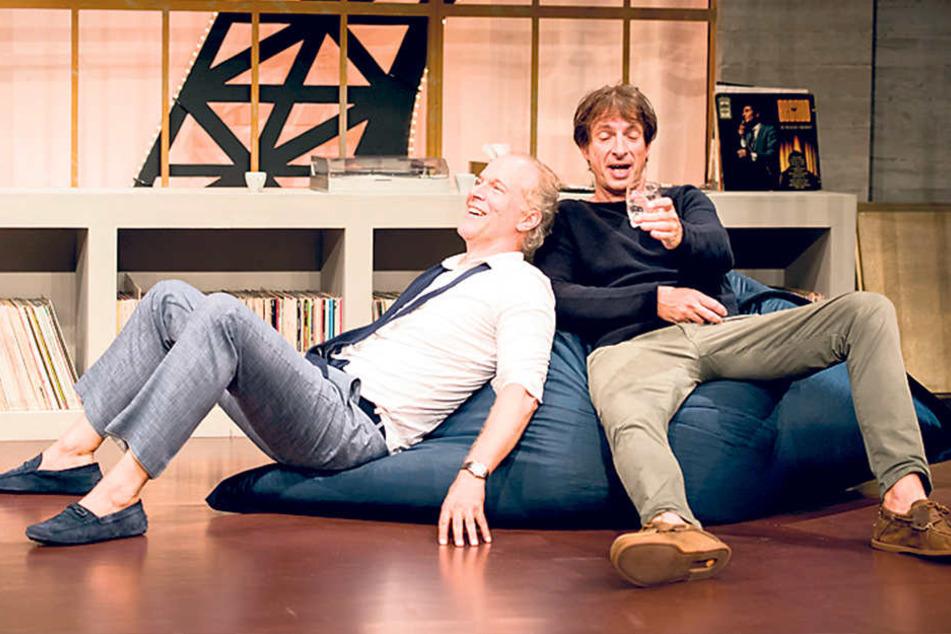 """Ingolf Lück (58, r.) und Jochen  Horst (55) spielen in der Comödie in """"Unsere Frauen"""" mit."""