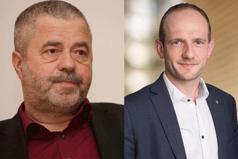 Links: Michael Geisler (57, CDU). Rechts: Stephan Meyer (36, CDU).