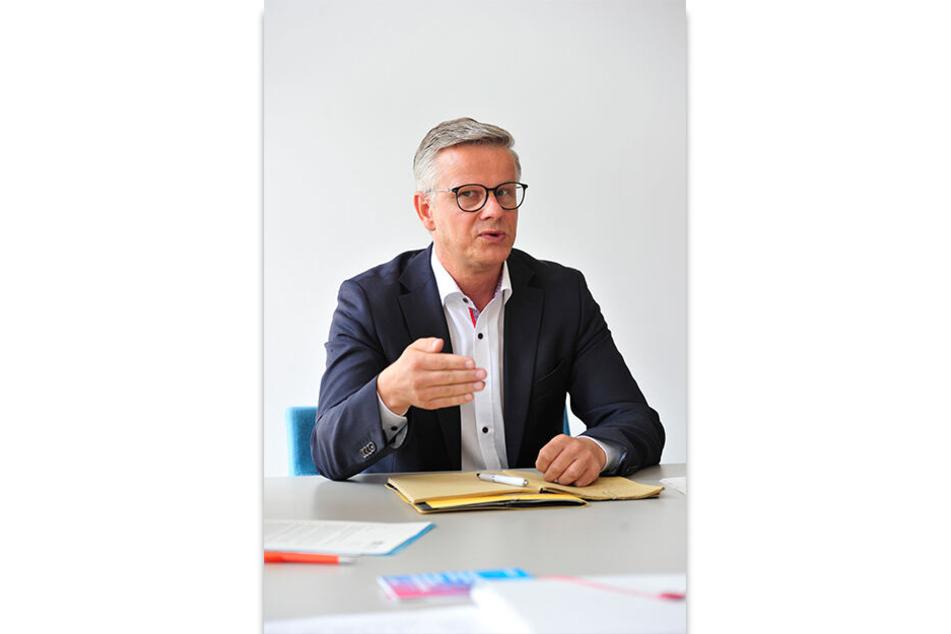 Stadtsprecher Matthias Nowak (50) wünscht allen Chemnitzer Nominierten viel Glück.