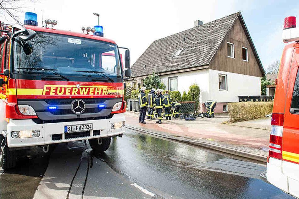Die Feuerwehr Bielefeld musste bei dem Brand anrücken.