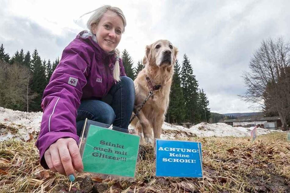 Diana Lichtenthal (31) geht gegen die Nachlässigkeit so mancher Hundebesitzer vor. Auch Hündin Nelly (6) stinkt's.