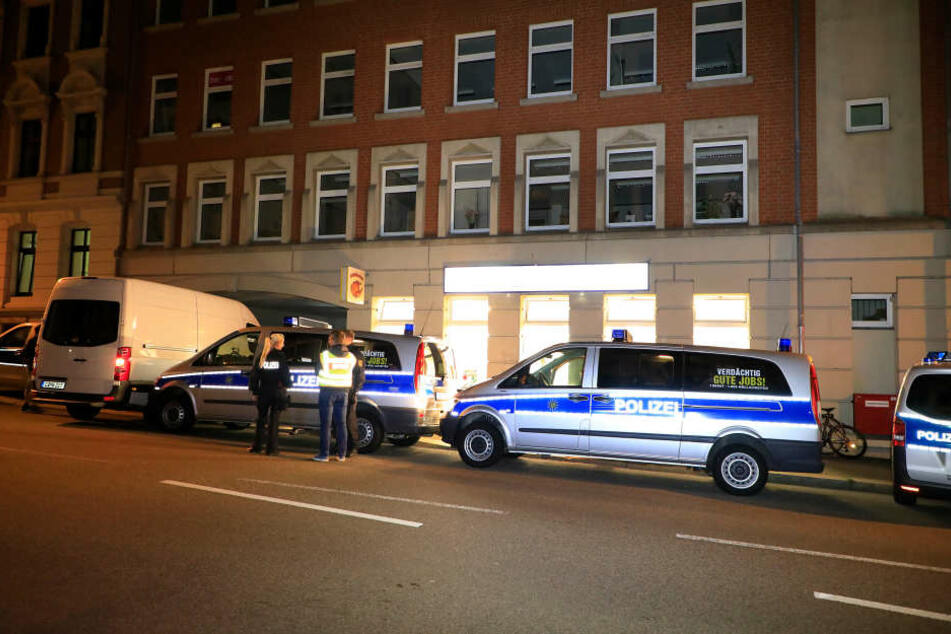 Auch in der Fürstenstraße führte die Polizei Kontrollen durch.