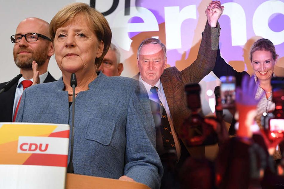 Vorläufiges amtliches Wahlergebnis: Merkel gewinnt trotz deutlicher Verluste