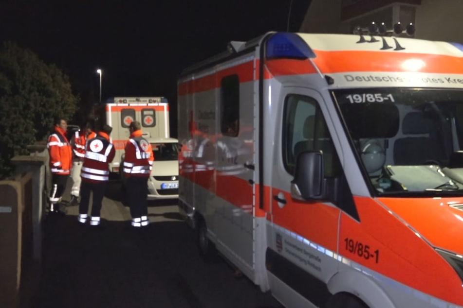 Vorsichtshalber waren auch rettungskräfte vor Ort.