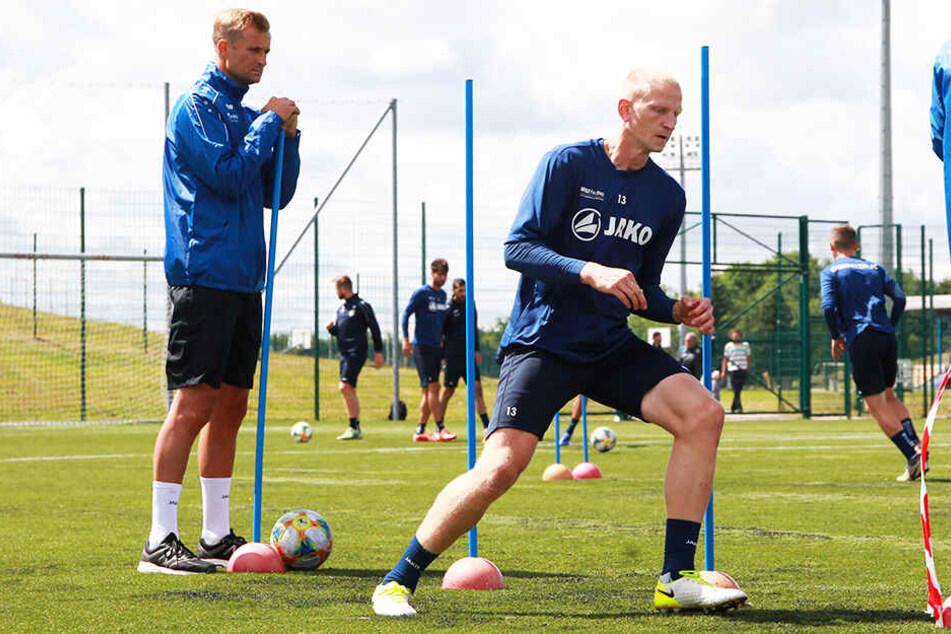 CFC-Coach David Bergner (l.) hat mit Clemens Schoppenhauer einen erfahrenen Innenverteidiger dazubekommen.