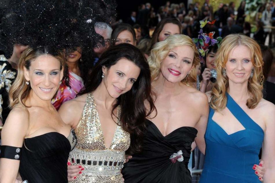 Im TV waren sie die besten Freundinnen, im echten Leben sah das leider ganz anders aus: Sarah Jessica Parker (52, v.l.), Kristin Davis (52), Kim Cattrall (61) und Cynthia Nixon (51).