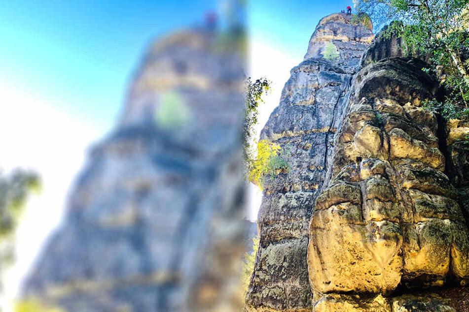 Am Hirschgrundstein verunglückte der Kletterer.