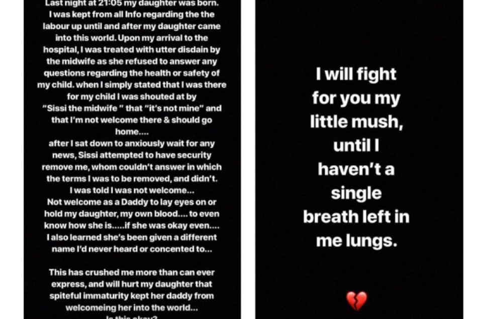 In seiner Instagram-Story gibt sich Leebo Freeman enttäuscht und kämpferisch.