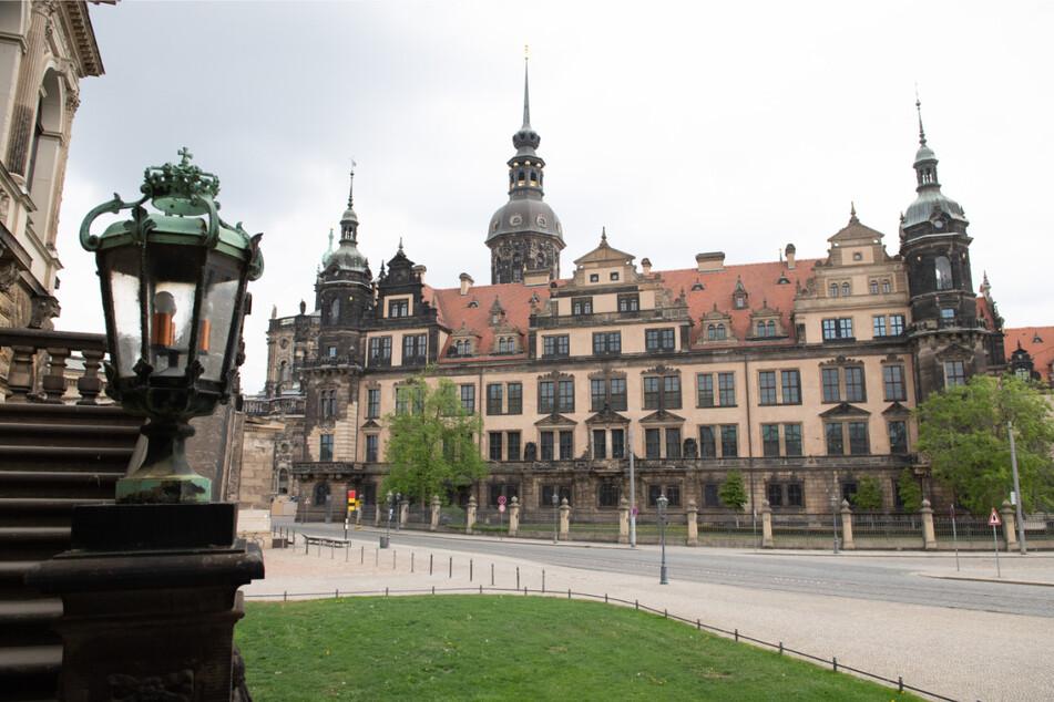 Das Residenzschloss mit dem Historischen Grünen Gewölbe der Staatlichen Kunstsammlungen Dresden.