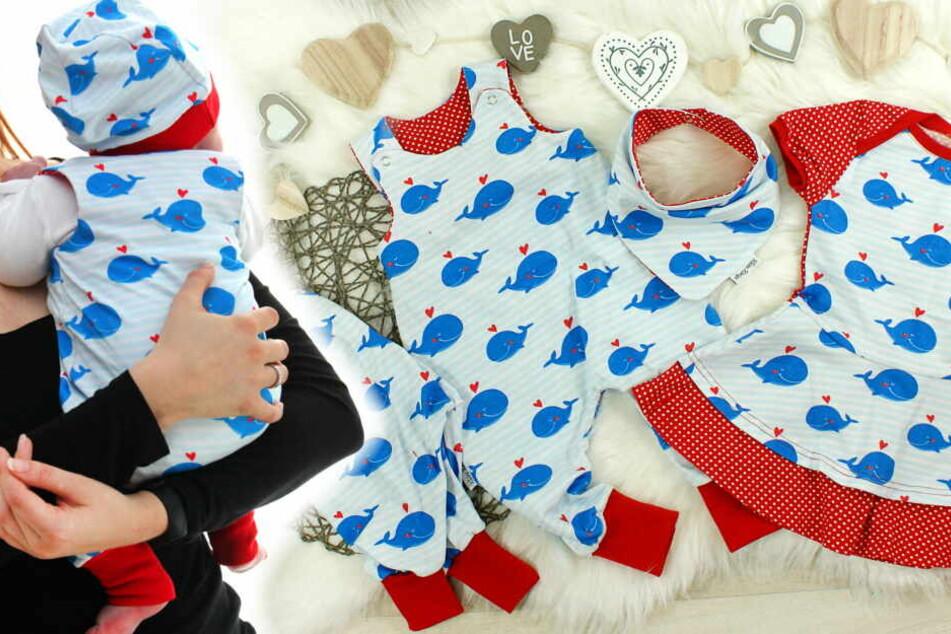 """Wöchentlich gibt es neue liebevoll designte Kollektionen für Mami und Kind (im Bild: Kollektion """"Lovely Whales"""")"""