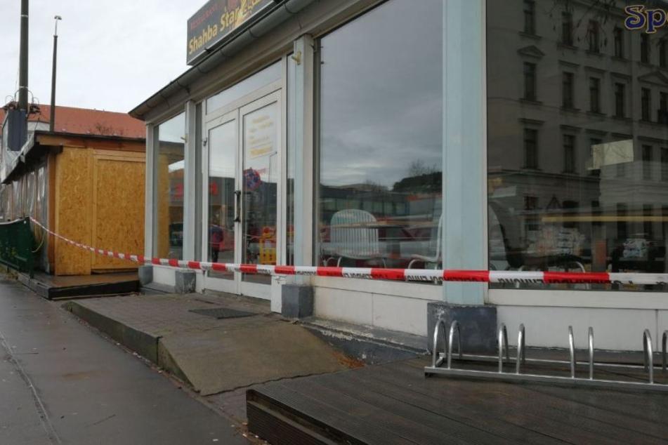 Aus Sicherheitsgründen wurde das Betreiben des Imbisses an der Ecke Sassstraße untersagt.