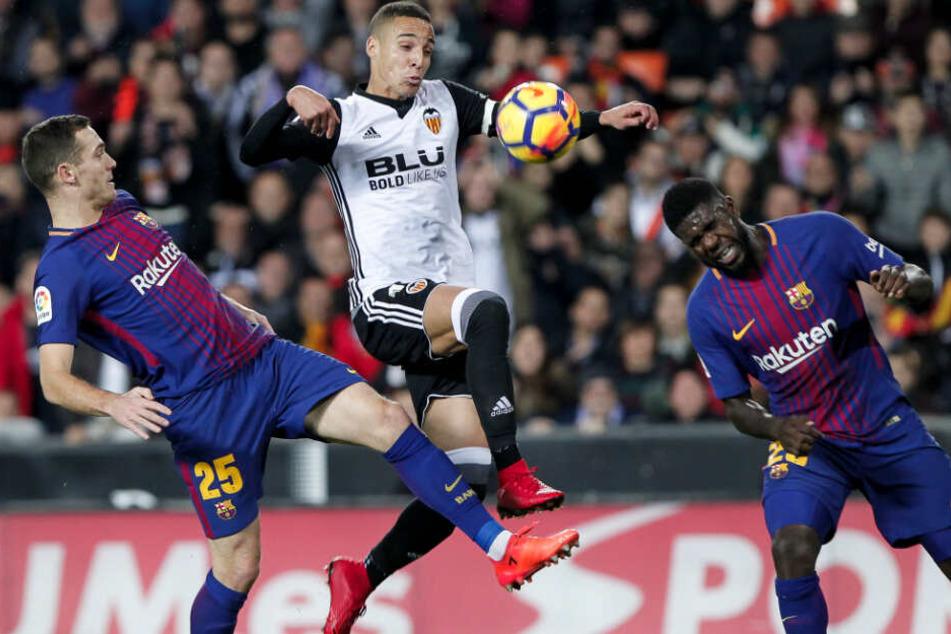 Bald selbst im Trikot des FC Barcelona? (Noch-)Valencia-Stürmer Rodrigo.